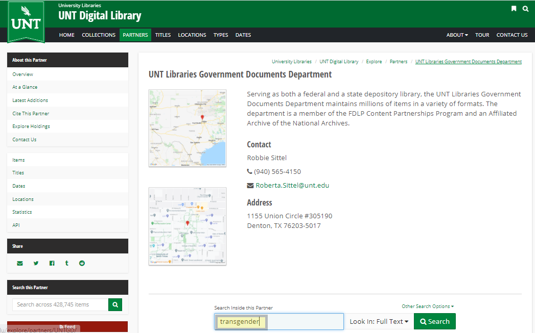 UNT Digital Libraries Government Documents Collection