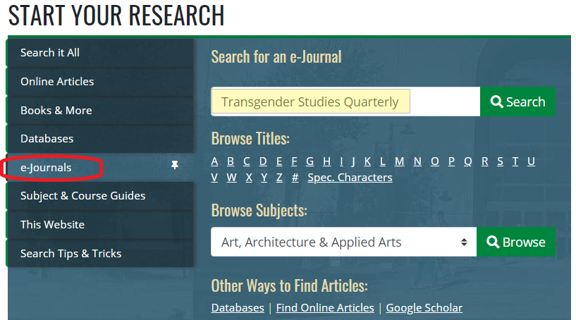bento box e-journal search