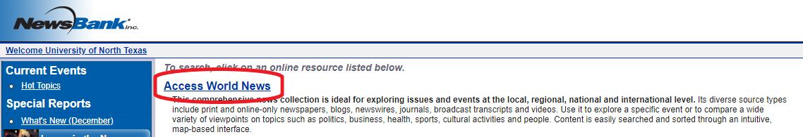 access world news