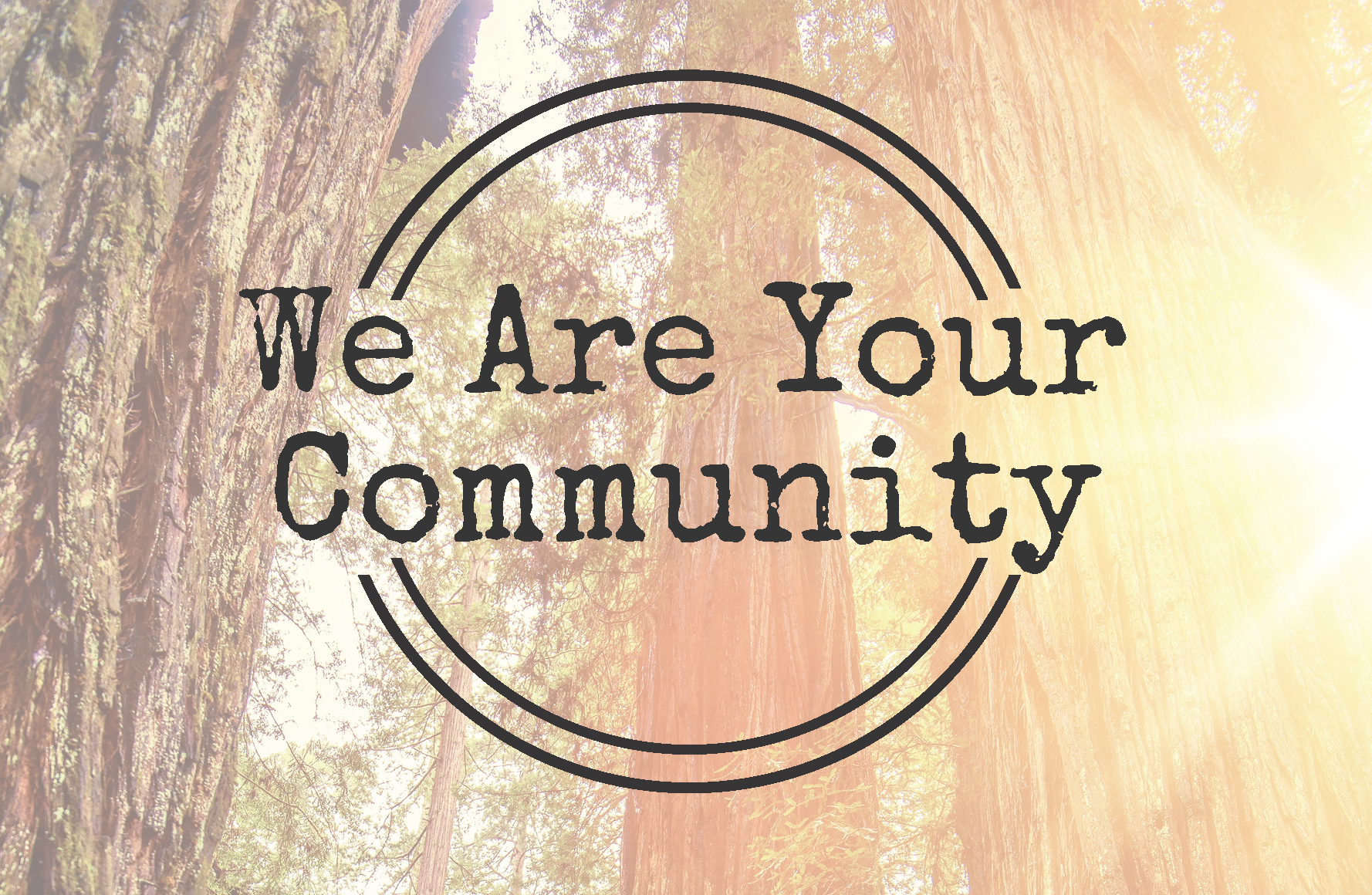 Logo for We Are Your Community project