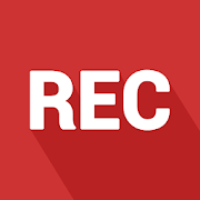 """Spreaker Record Logo: red square with """"REC"""" written in white letters, all caps, casting a shadow on the red background."""