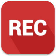 """Spreaker record logo: red square with rounded corners, white letters spelling """"RED"""" in all caps, casting a shadow on the red background."""