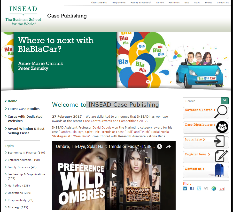 INSEAD Case Publishing