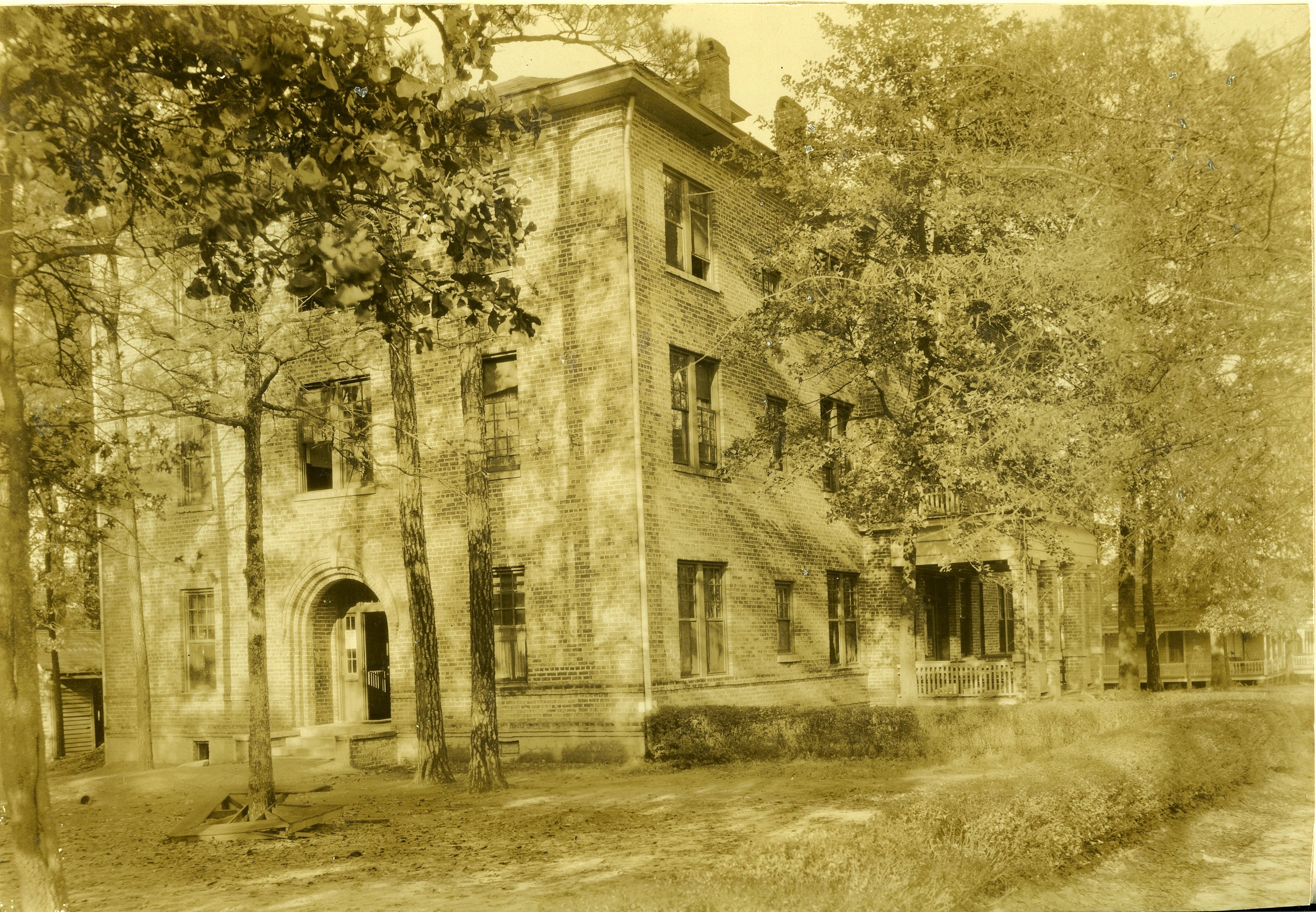 Caldwell Hall, the first men's residence hall