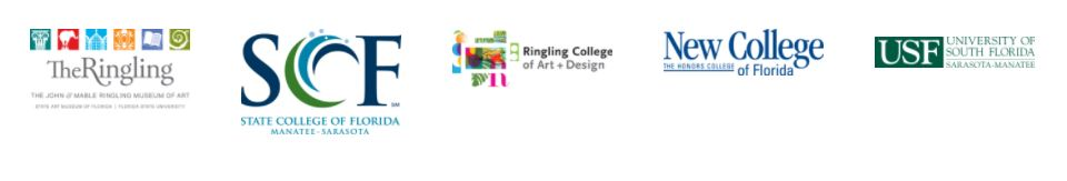 Cross College Alliance Logos - The Ringling, SCF, Ringling School of Art + Design, NCF, USF-SM