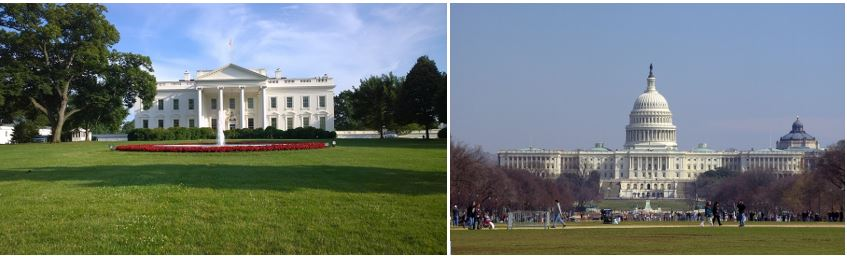 images of white house and capitol hill