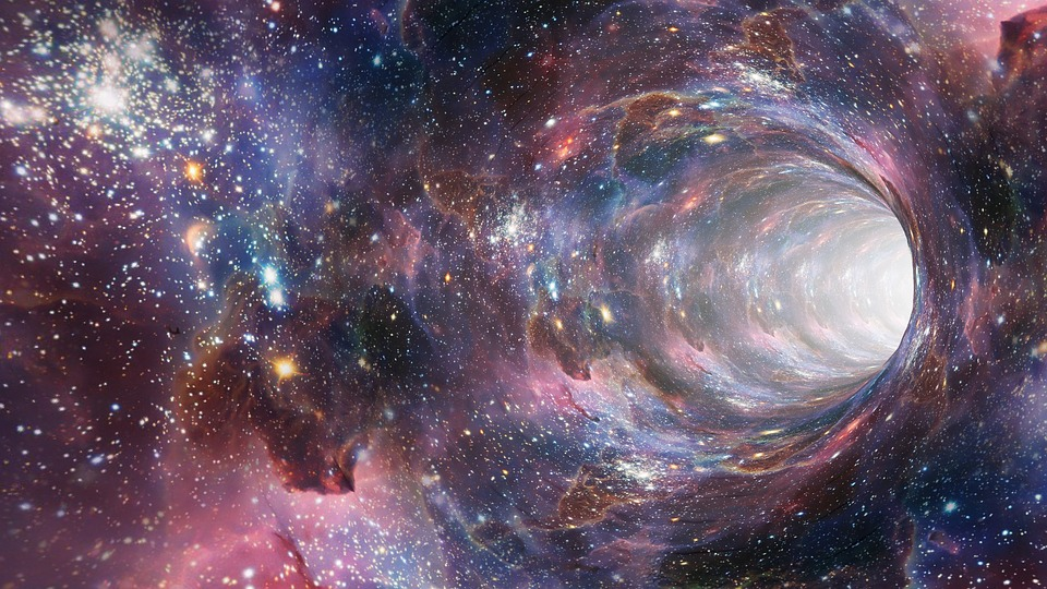 Image of a wormhole through space