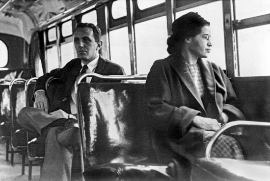 Rosa Parks sitting in a Bus (Publicity Shot)