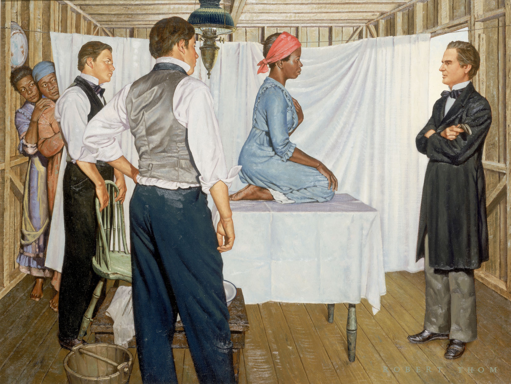 "Image of painting titled J. Marion Sims: Gynecologic Surgeon, from ""The History of Medicine"""