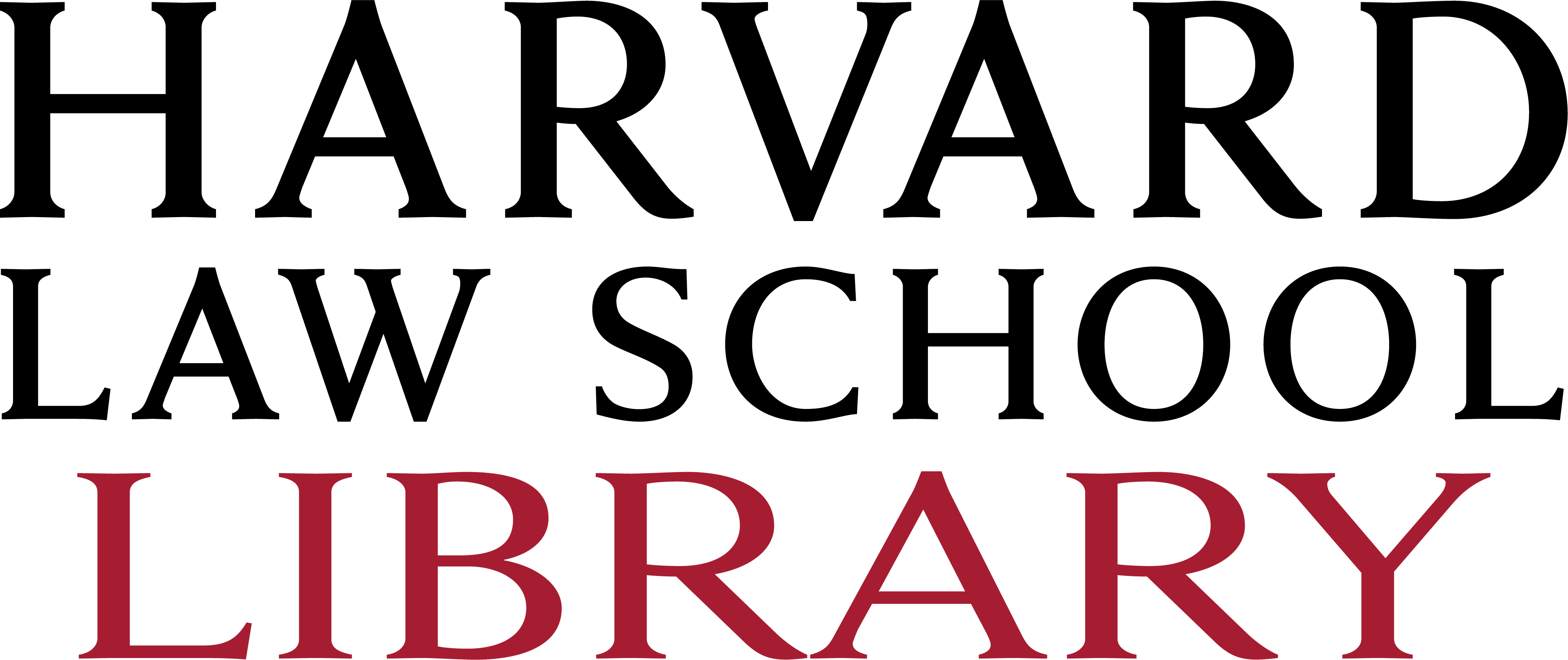 Harvard Law School Library logo