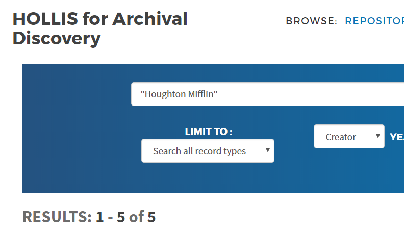 """Houghton Mifflin"" search limited to Creator"