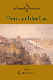 book cover cambridge companion to german idealism