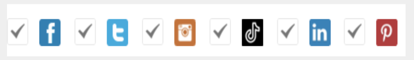 dashboard for searching facebook twitter instagram tiktok instagram pinterest
