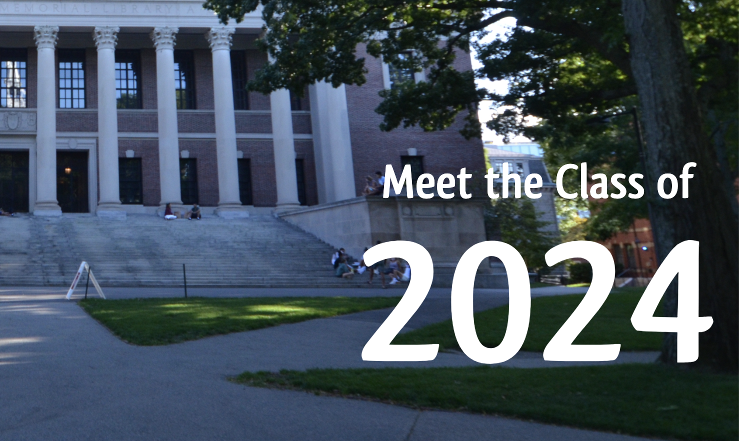 snapshot of crimson article top page for the By the Numbers: Meet the Class of 2024