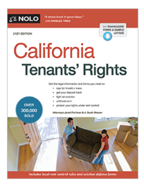 Picture of the cover of the Nolo California Tenants' Rights guide