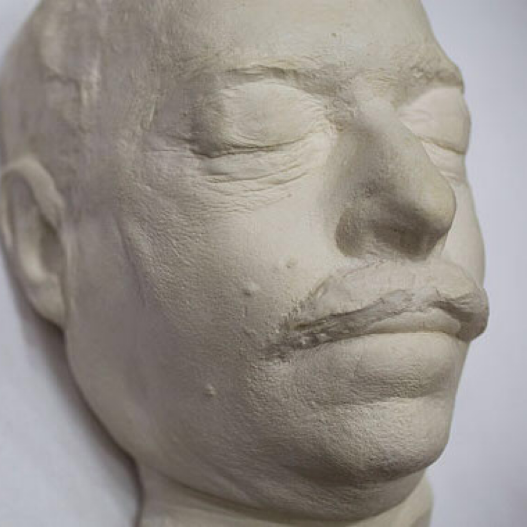 Death mask of Tennessee Williams, 1983