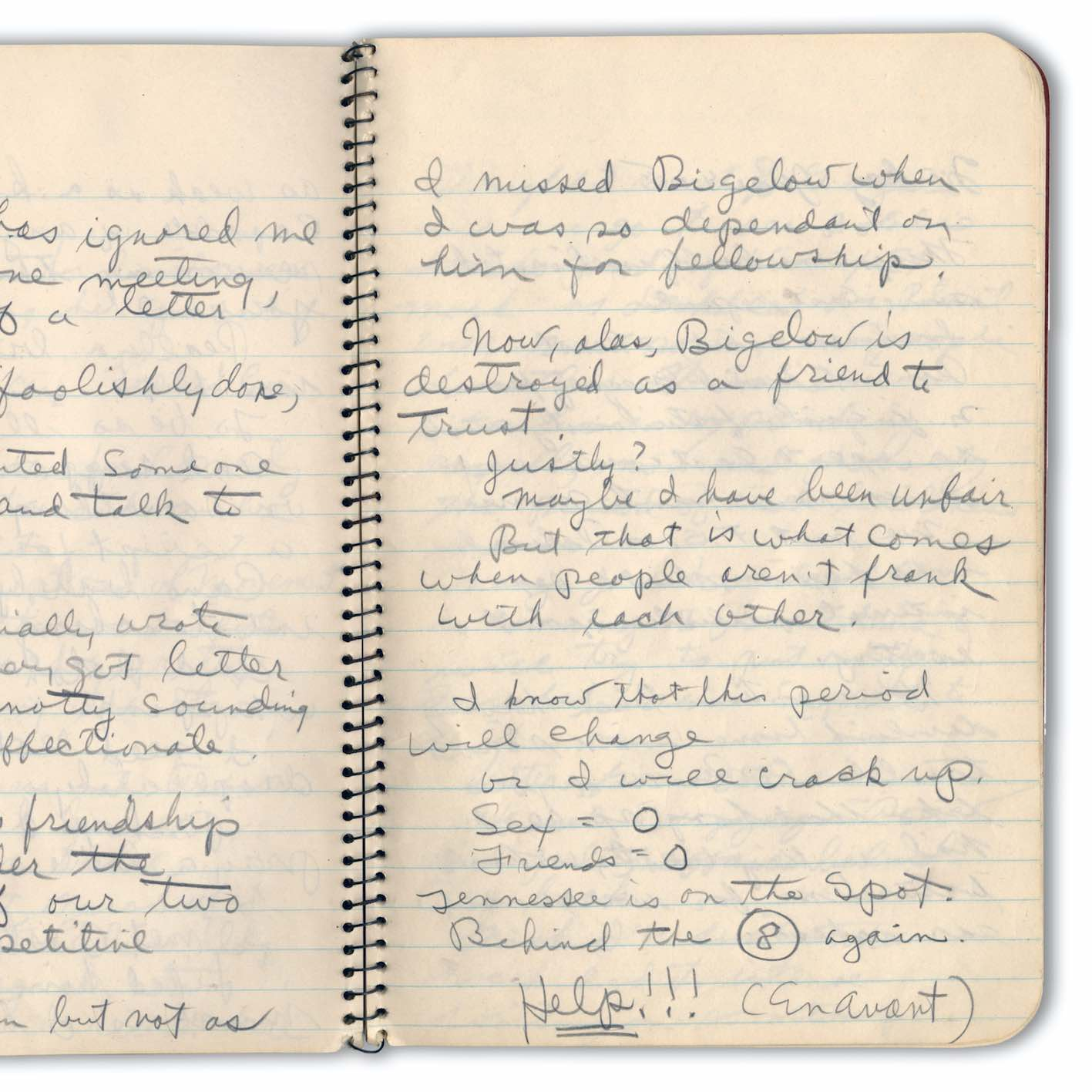 Tennessee Williams's journal, 1943