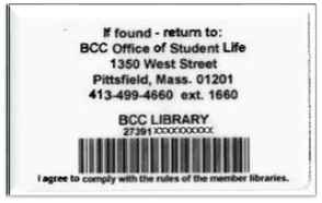Library Barcode, your username