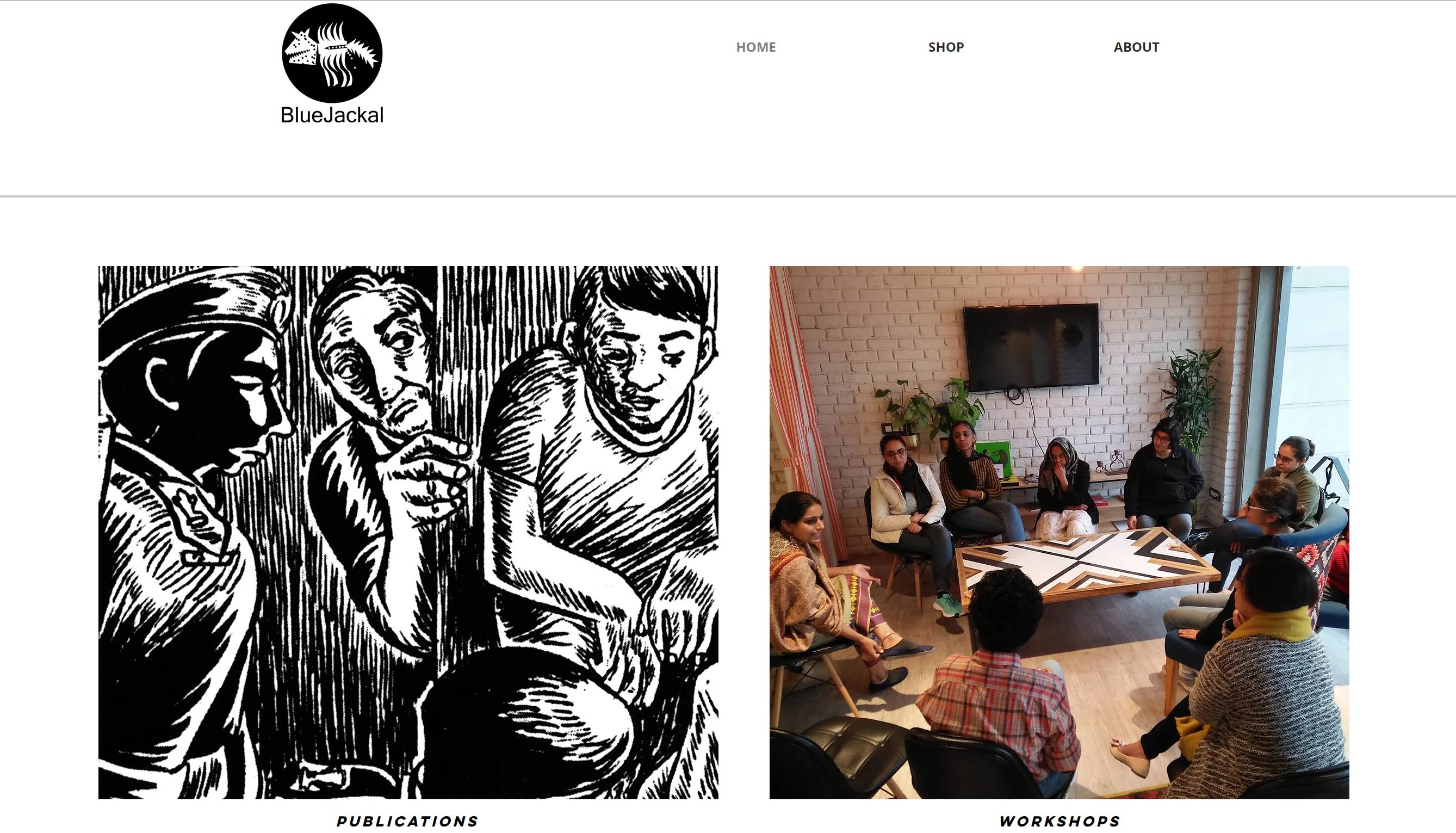 homepage of BlueJackal's site