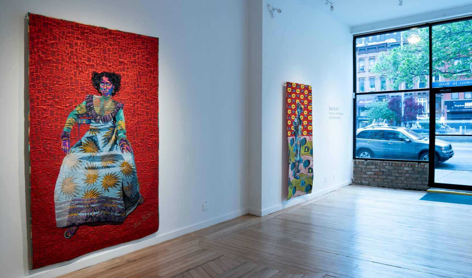Installation view of Butler's work in Claire Oliver Gallery