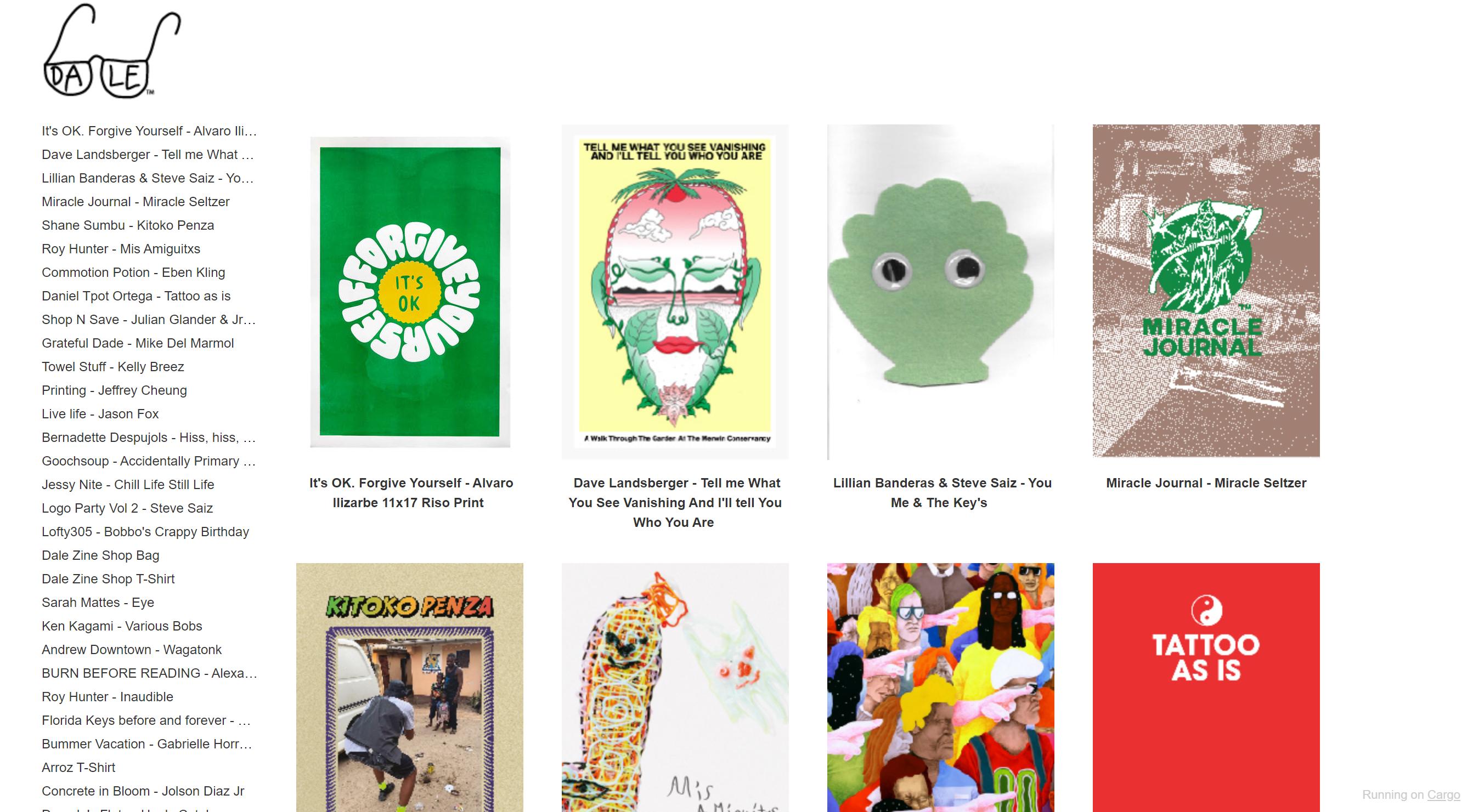 Dale Zine's online catalog