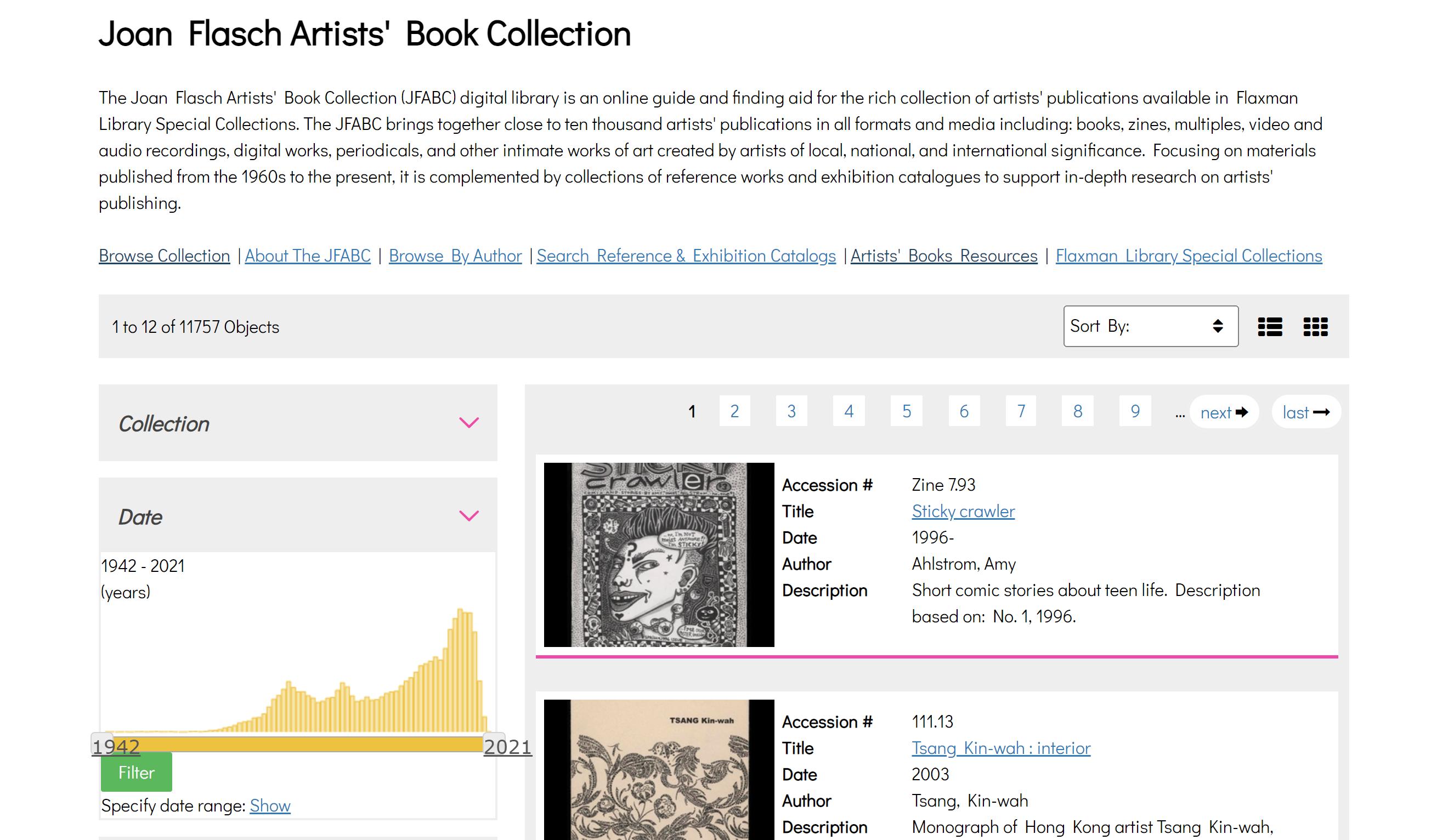 screenshot of their digital library site