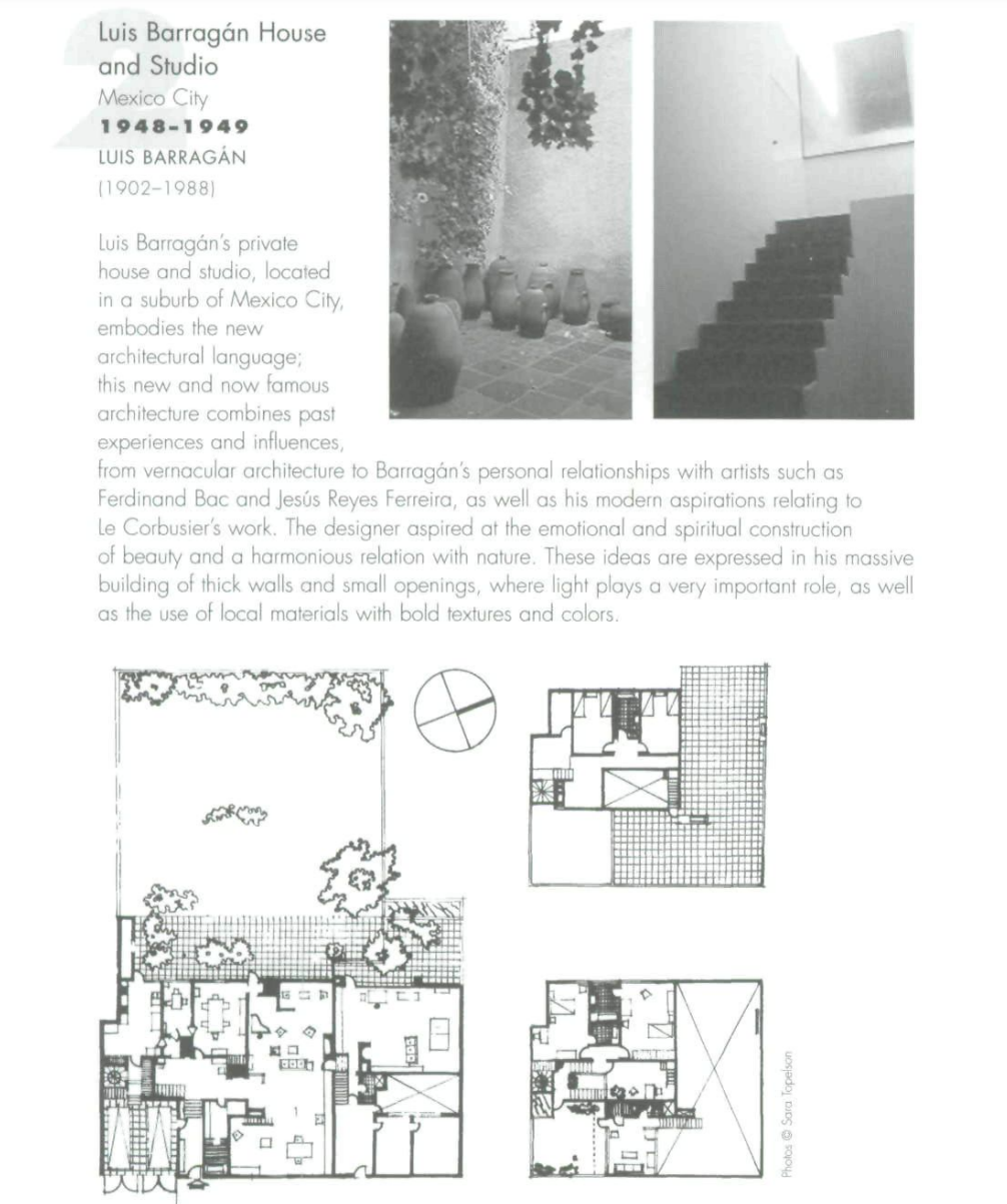 A screenshot of the first page of the article showing the layout of the Luis Barrigan house