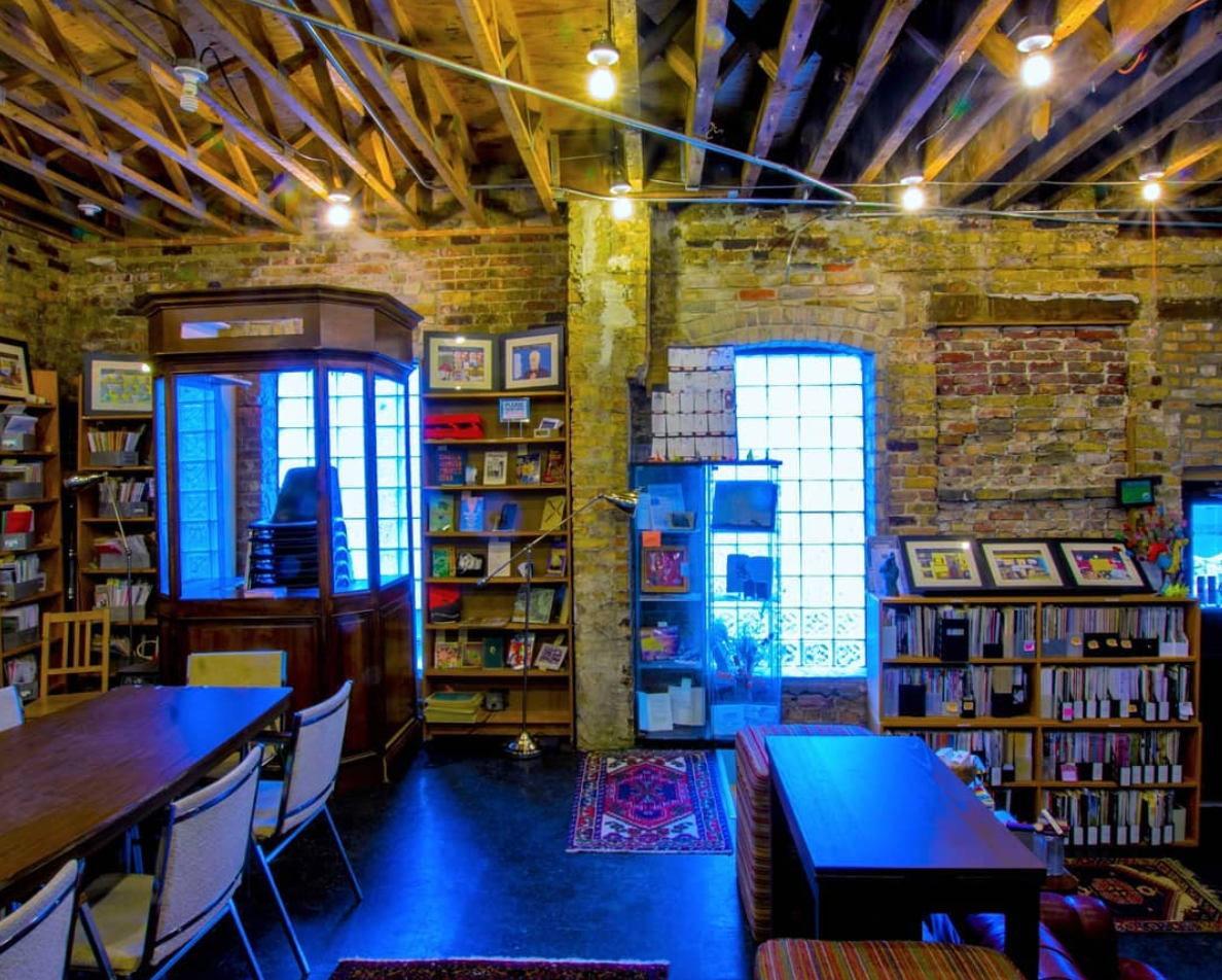 Interior shot of the library
