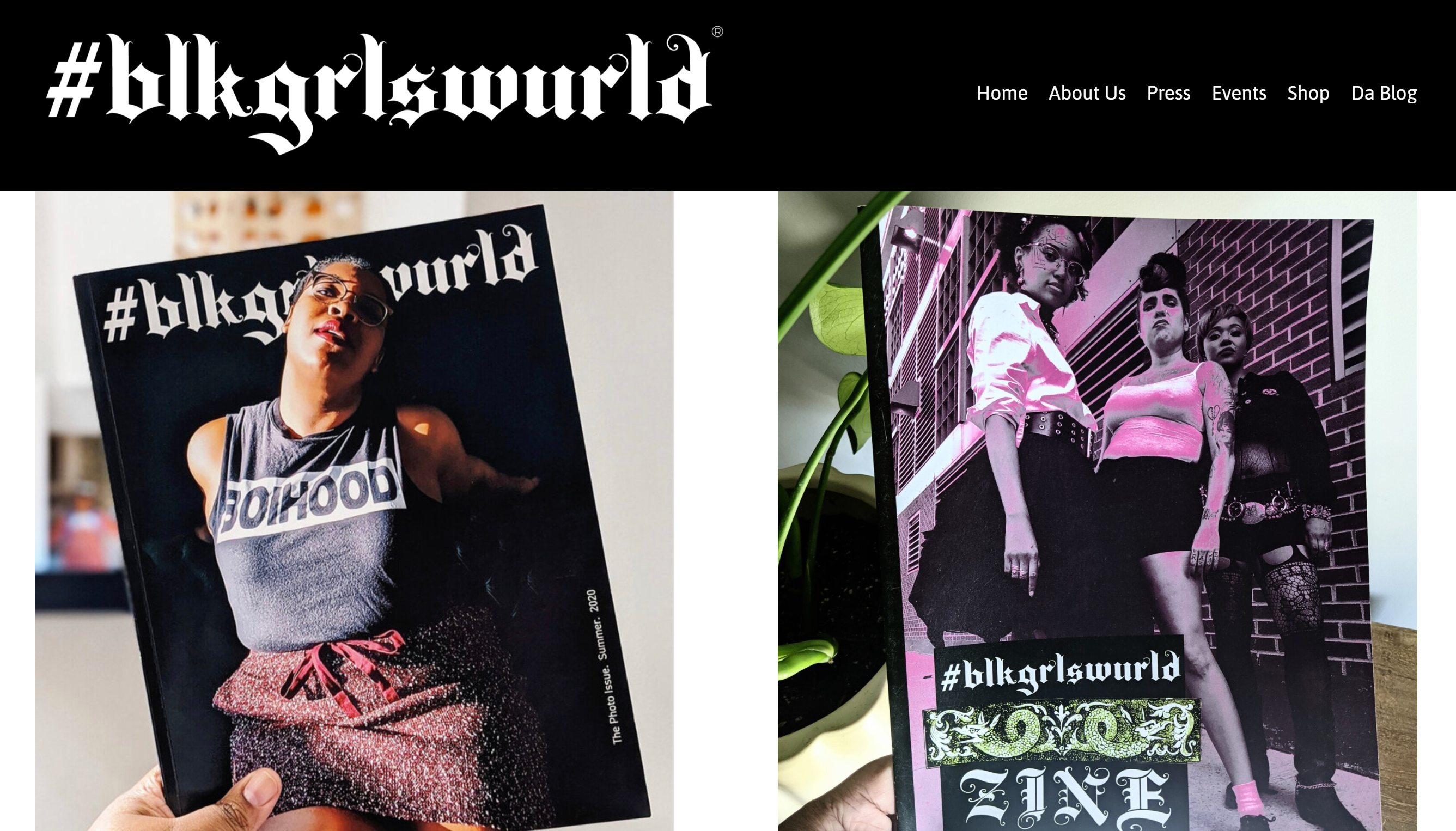 screenshot of their page showing the front covers of their most recent editions