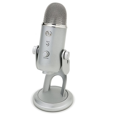 Silver USB Microphone