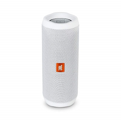 White Bluetooth speaker with analog buttons