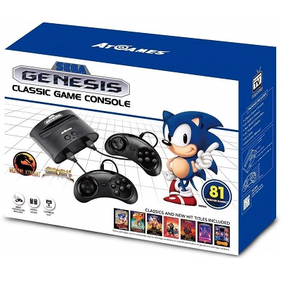 game console with two controllers and 81 games