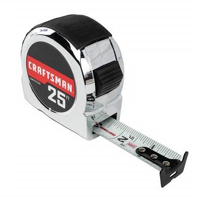 25ft retractable tape measure