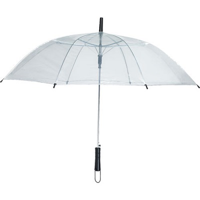 clear, folding umbrella