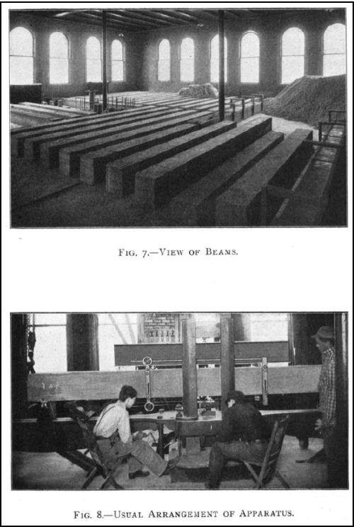 Photos of concrete testing from the first bulletin of the agricultural experiment station