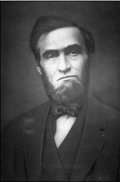 portrait of Jonathan Baldwin Turner, black and white