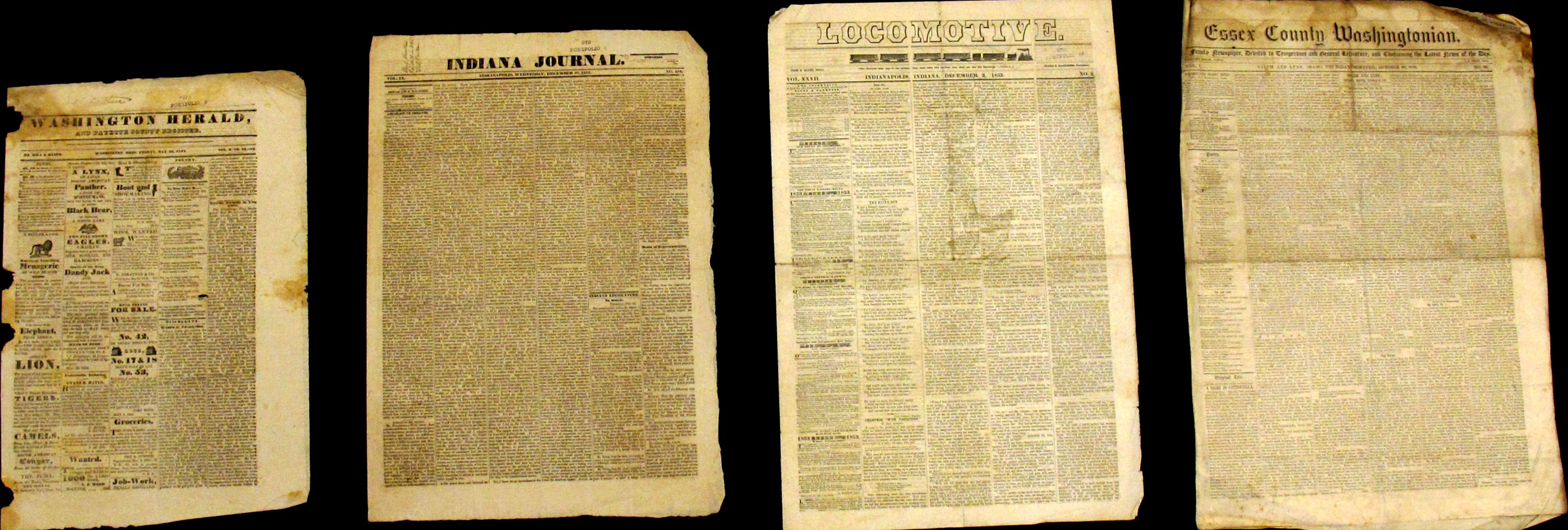 Four Antebellum Newspapers