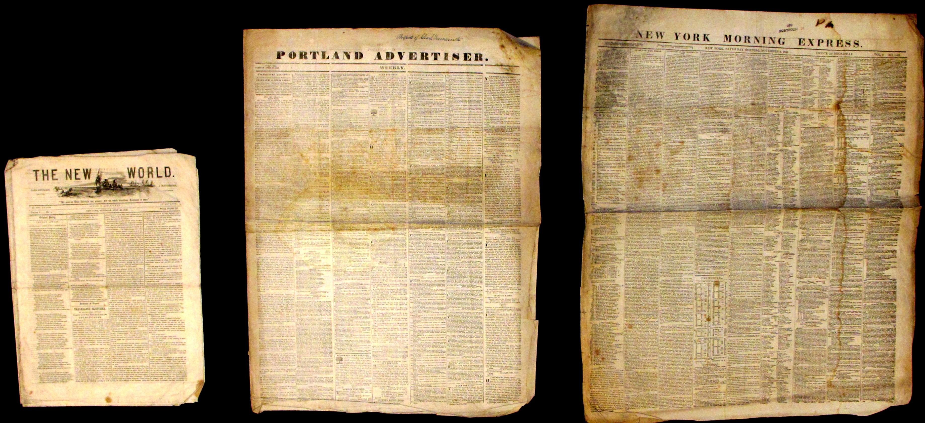 Three Antebellum Newspapers