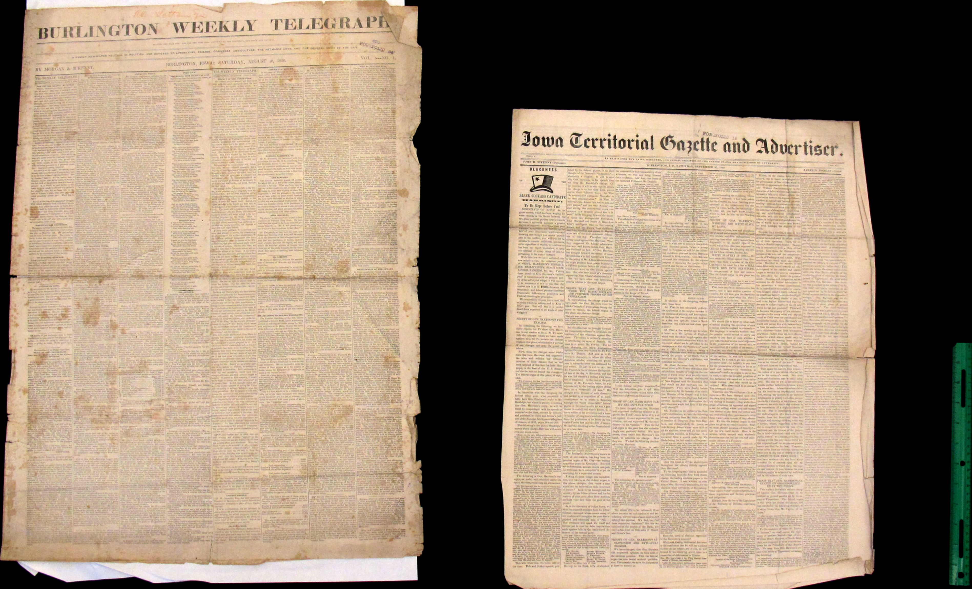 Two Antebellum Country Newspapers