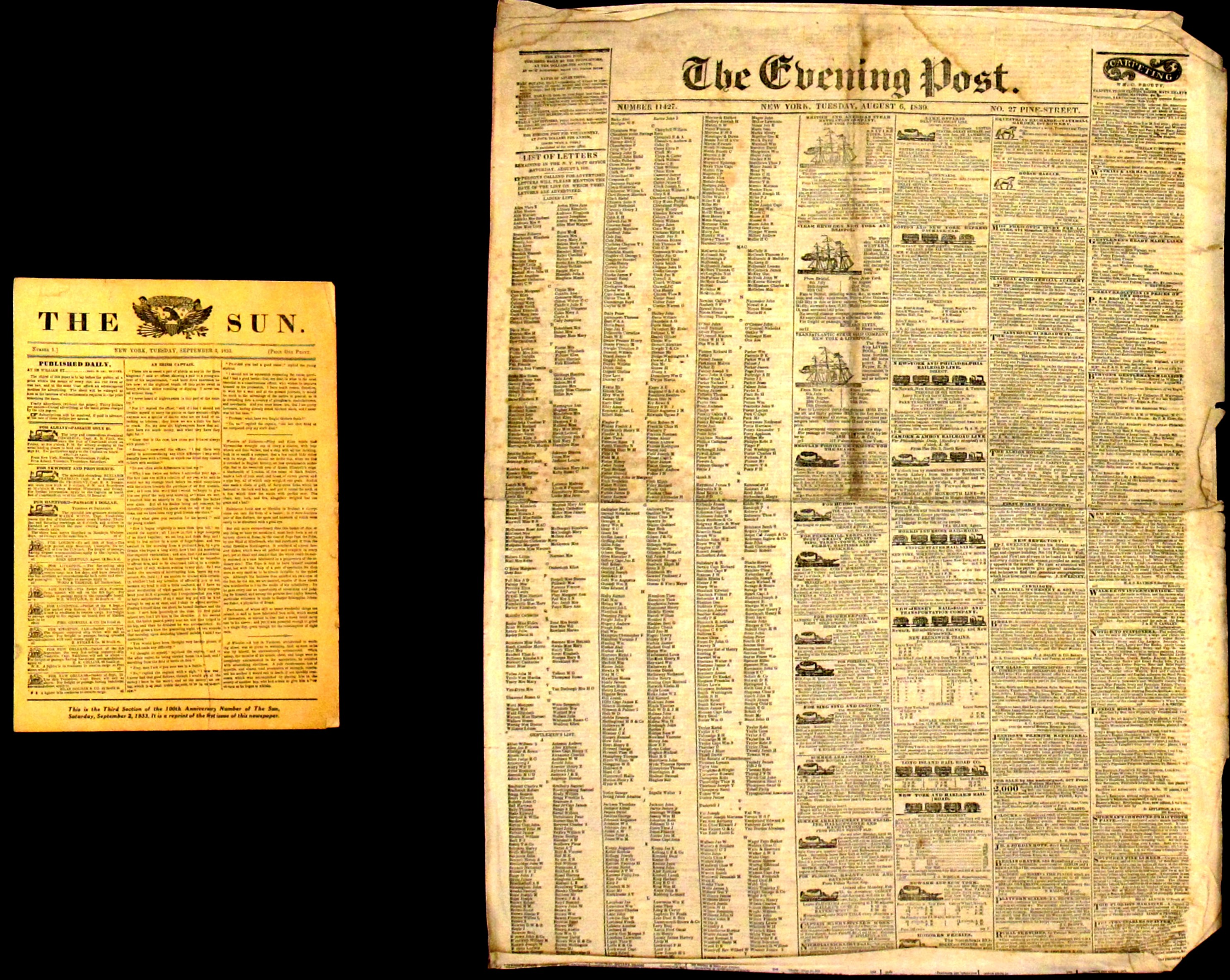 Two Antebellum Newspapers