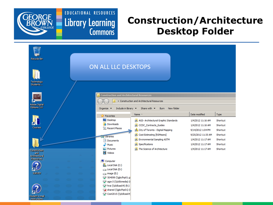 screen shot of Casa Loma LLC Desktop showing the architecture folder