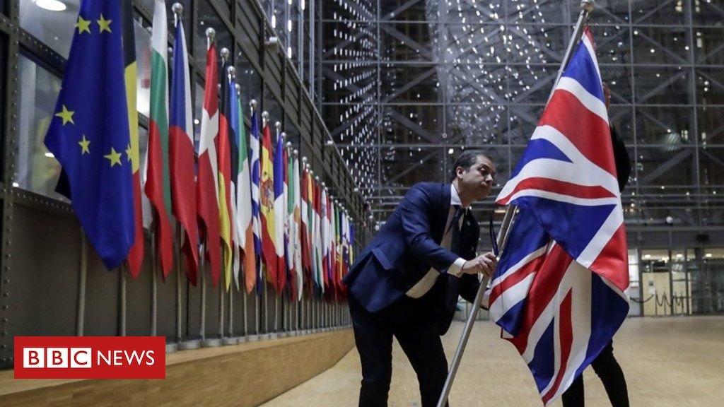 Union Jack Removed from EU Council Building in Brussels after Brexit