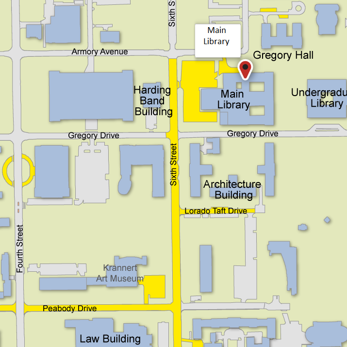 Main Library Parking Map
