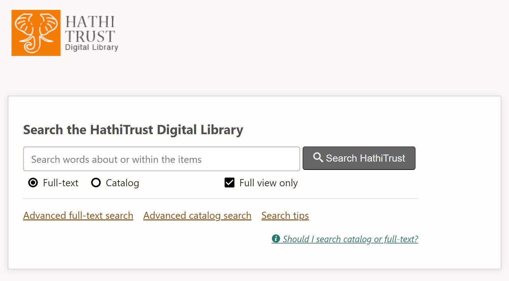 HathiTrust Search