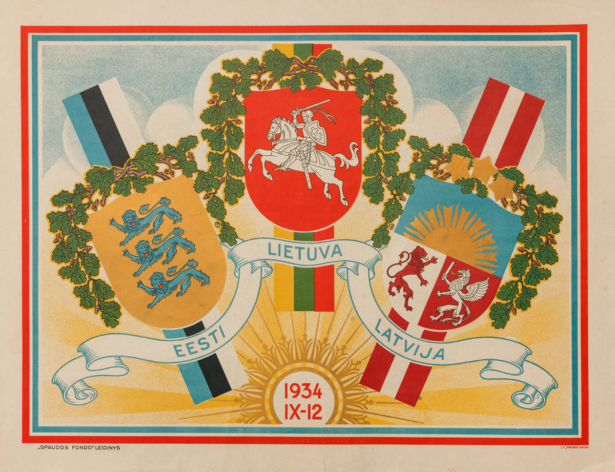 """Lithuania, Latvia, Estonia"" print from the Rokiškis Area Museum"