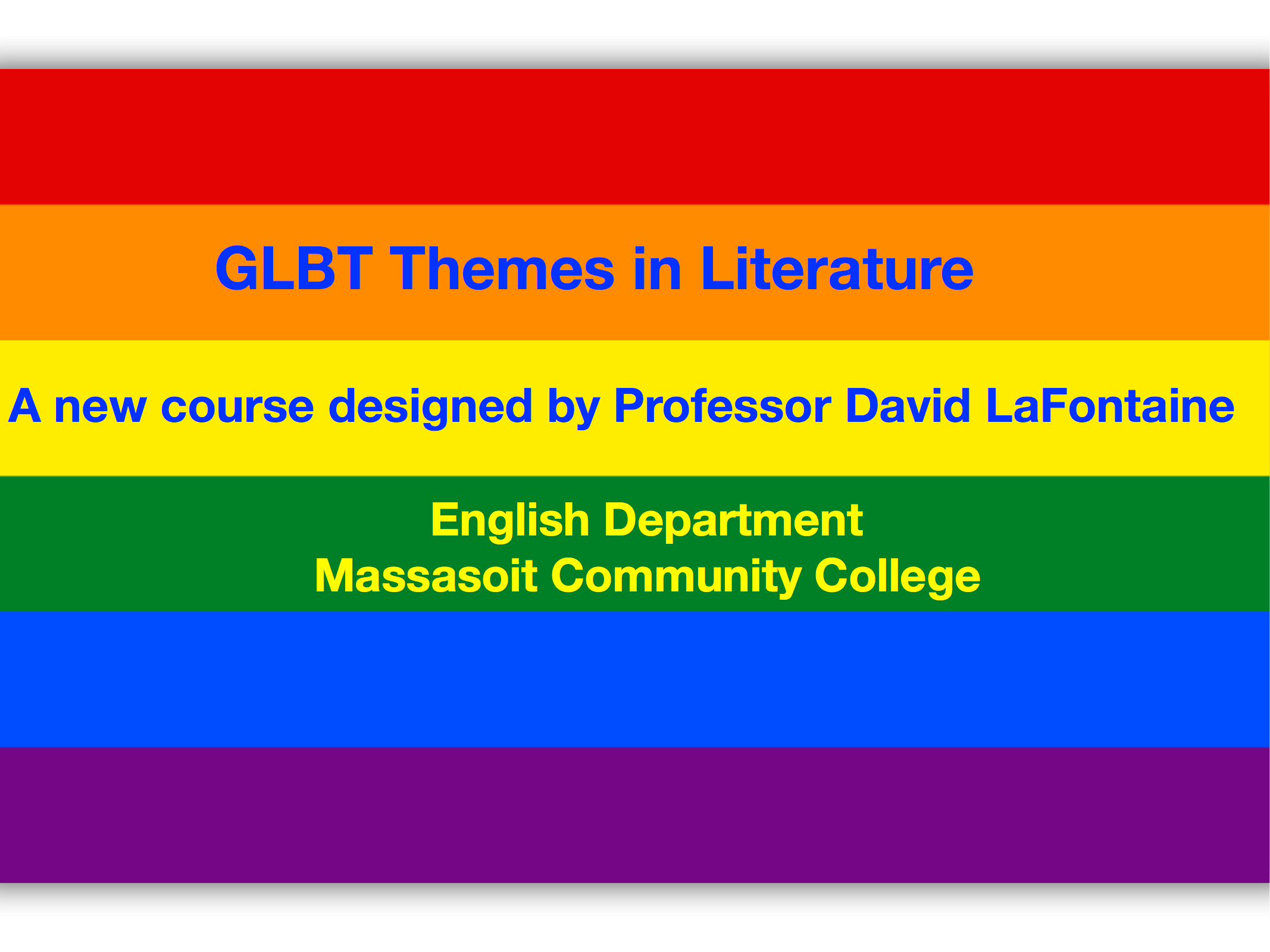 rainbow flag GBLT course themes in literature