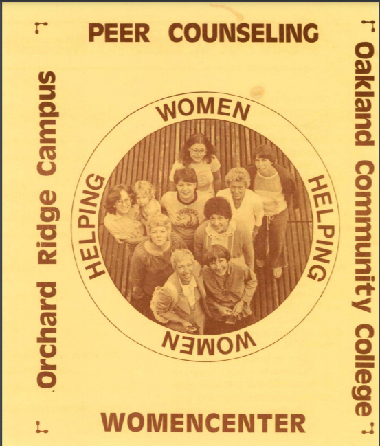 Image of undated Womencenter brochure courtesy of OCC Archives