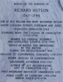 Richard Hutson Grave Marker