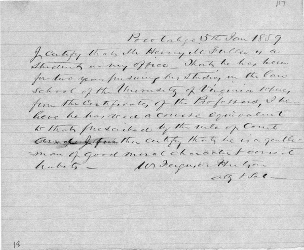 Supporting Affidavit to the Fuller Petition, January 5, 1859