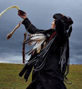 mongolian shaman at her initiation